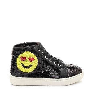 Girls Steve Madden Jsmiley High Top Sneakers